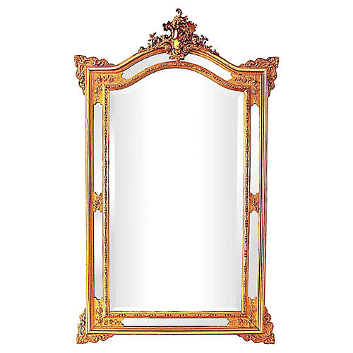 Antique French Reticulated Mirror