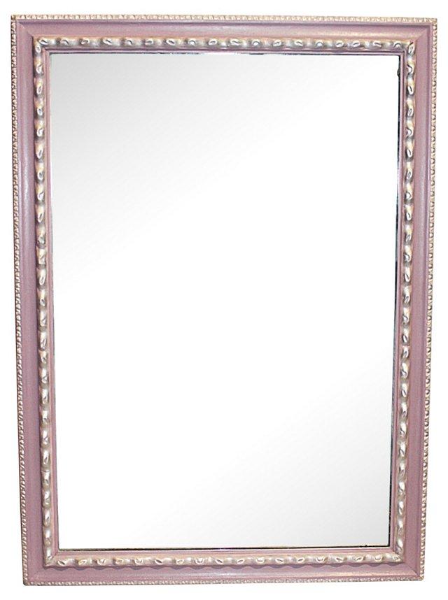 1940s Silver & Lavender Mirror