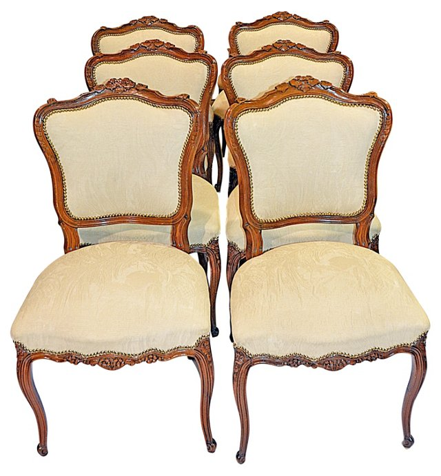 Louis XV-Style  Dining Chairs, S/6