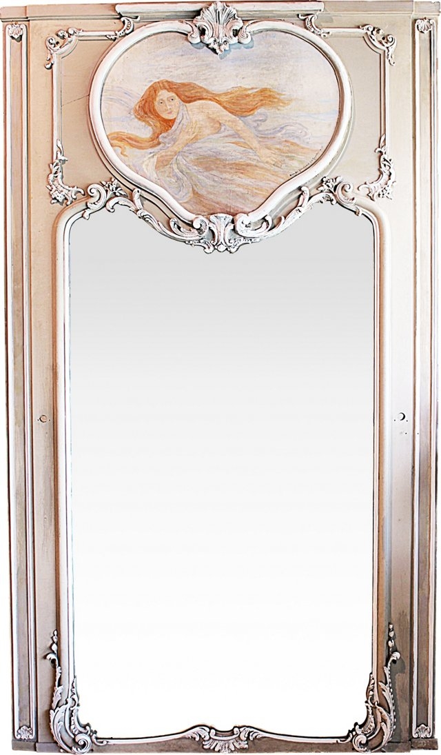 19th-C. Trumeau Mirror