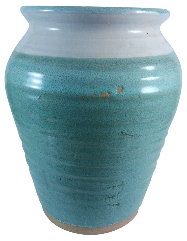 Sea Foam Pottery Urn