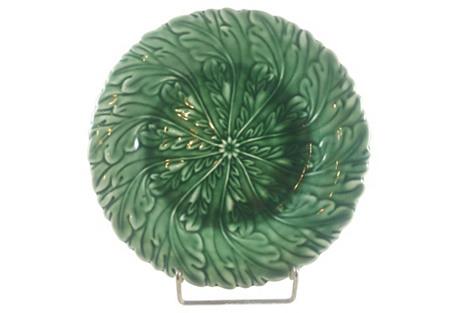 Decorative Emerald Majolica Plate