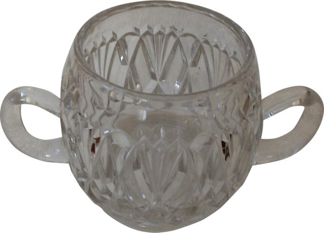 Cut-Crystal Sugar Bowl