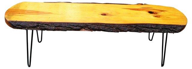 1960s Slab Wood Coffee Table