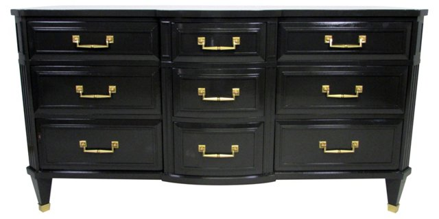 Midcentury Bow-Front Chest of Drawers