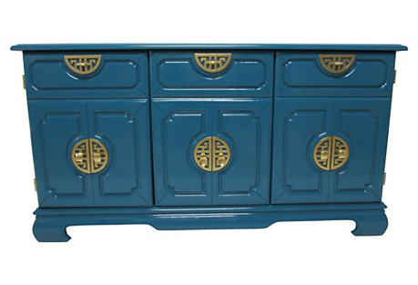 Asian-Inspired Lacquered Cabinet