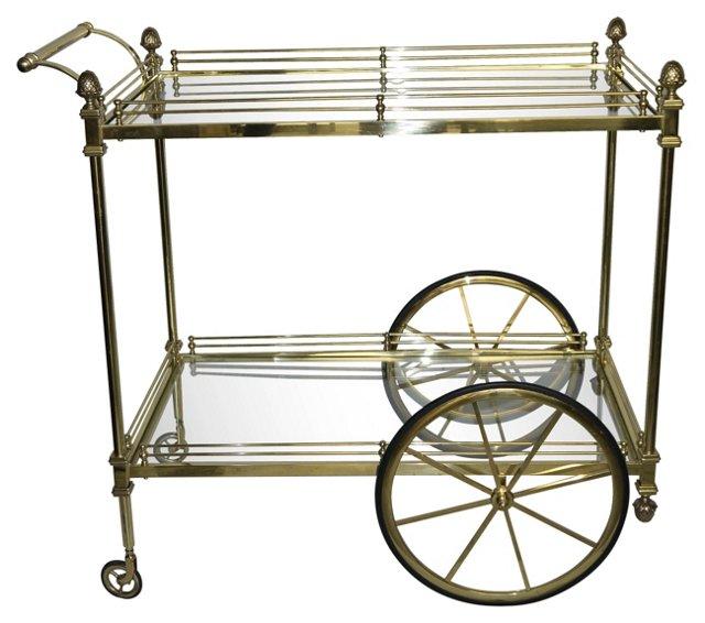 Aldo Tura-Style Bar Cart