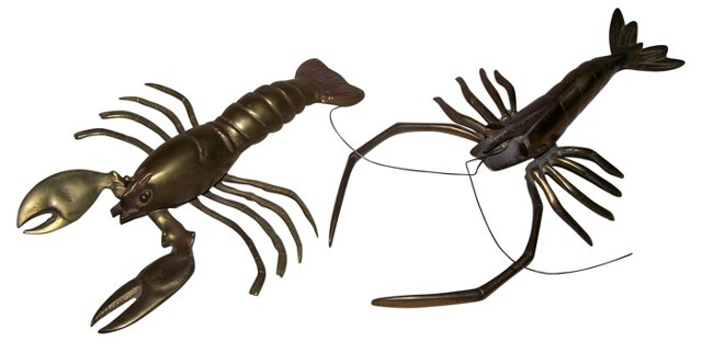 Brass Lobsters, Pair