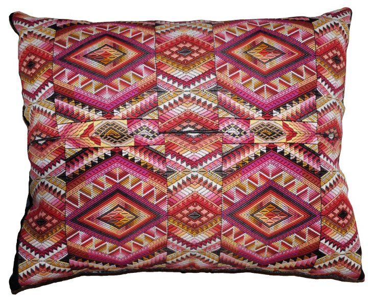 Geometric Mayan Pillow