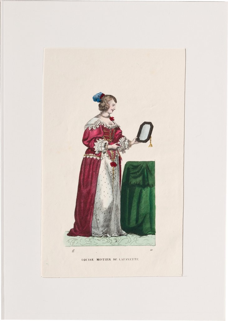 French    Costume     Print