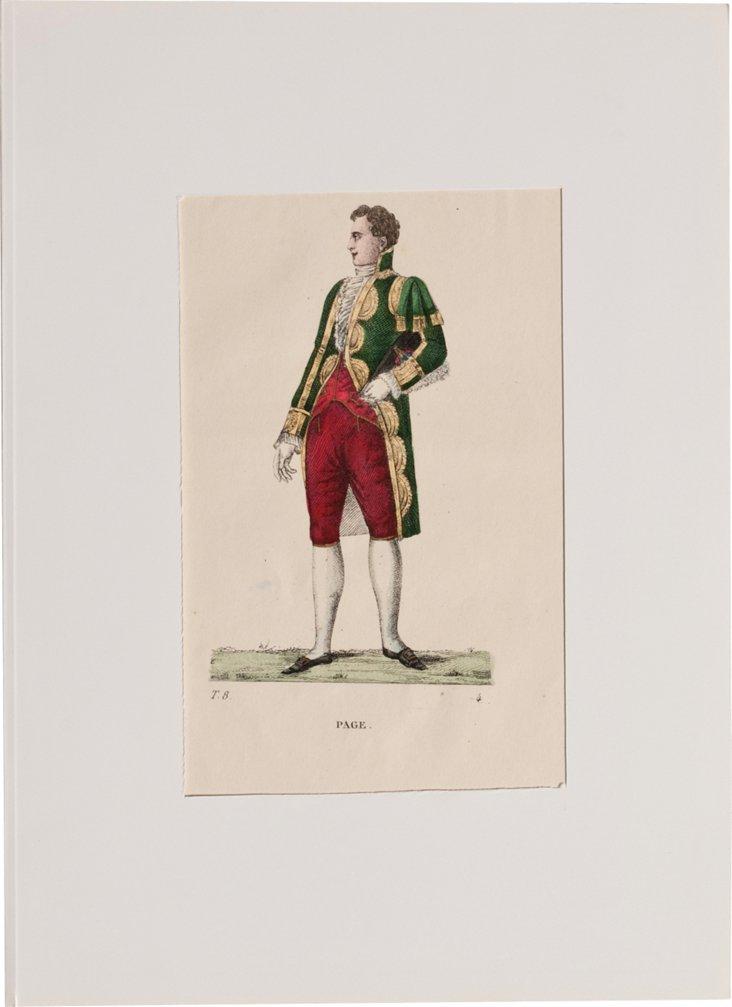 19th-C. Costume Lithograph