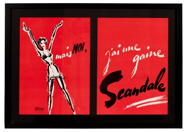 French 1950s Advertising Poster