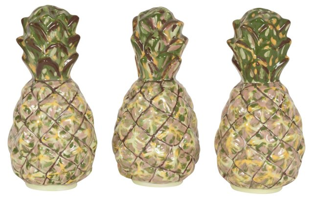 Pineapple Salt & Peppers, S/3