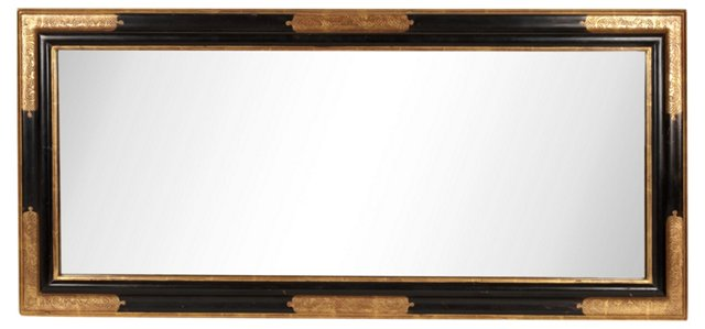 Black & Gold Rectangular Mirror