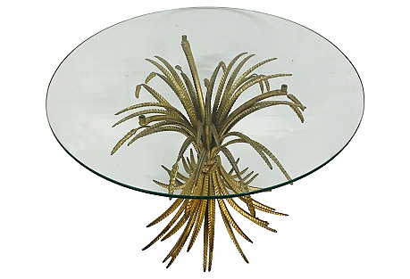 Gilt Wheat Sheaf Side Table