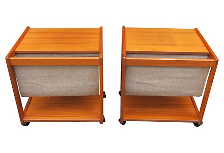 Danish Midcentury Side Tables, S/2