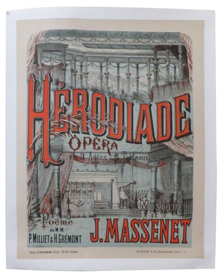 Herodiade Poster, C. 1890