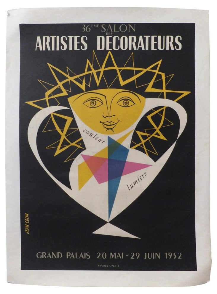 Decorateurs Poster by Colin, 1952