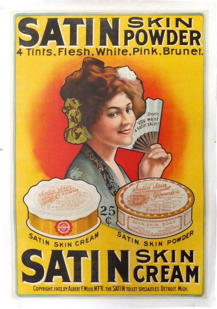Satin Skin Cream Poster