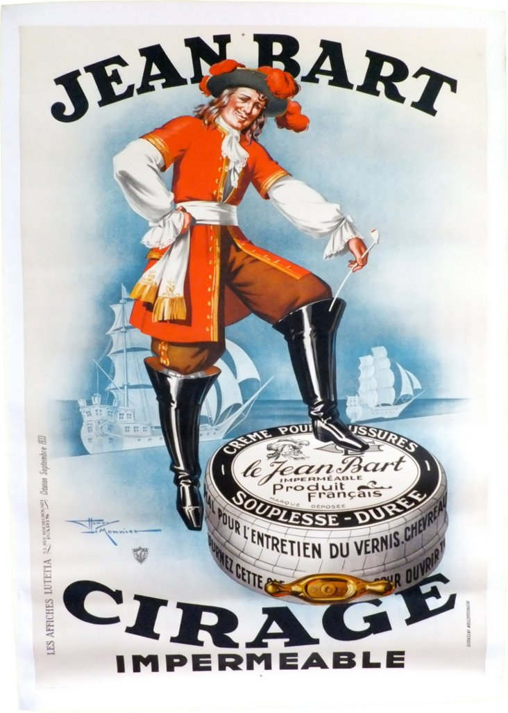 French Jean Bart Pirate Shoe Polish Ad