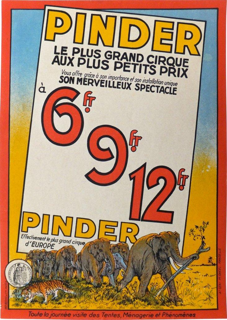 Cirque Pinder Elephants Poster