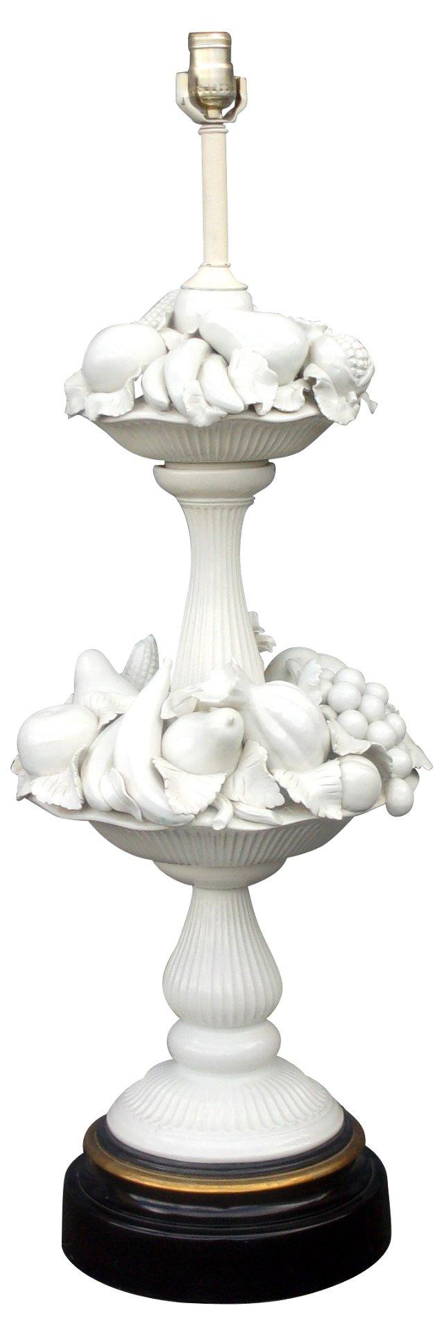 Monumental Porcelain Fruit Lamp