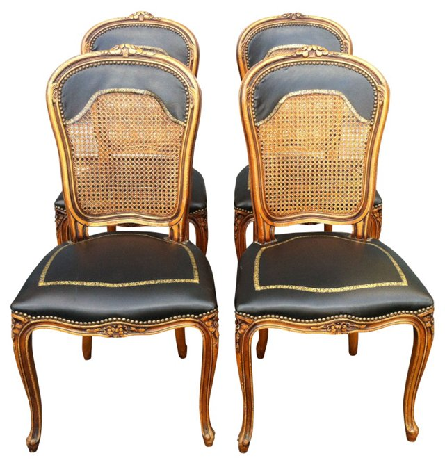 Italian  Cane-Back Chairs, S/4