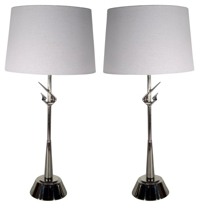 Rembrandt  Gazelle Lamps, Pair