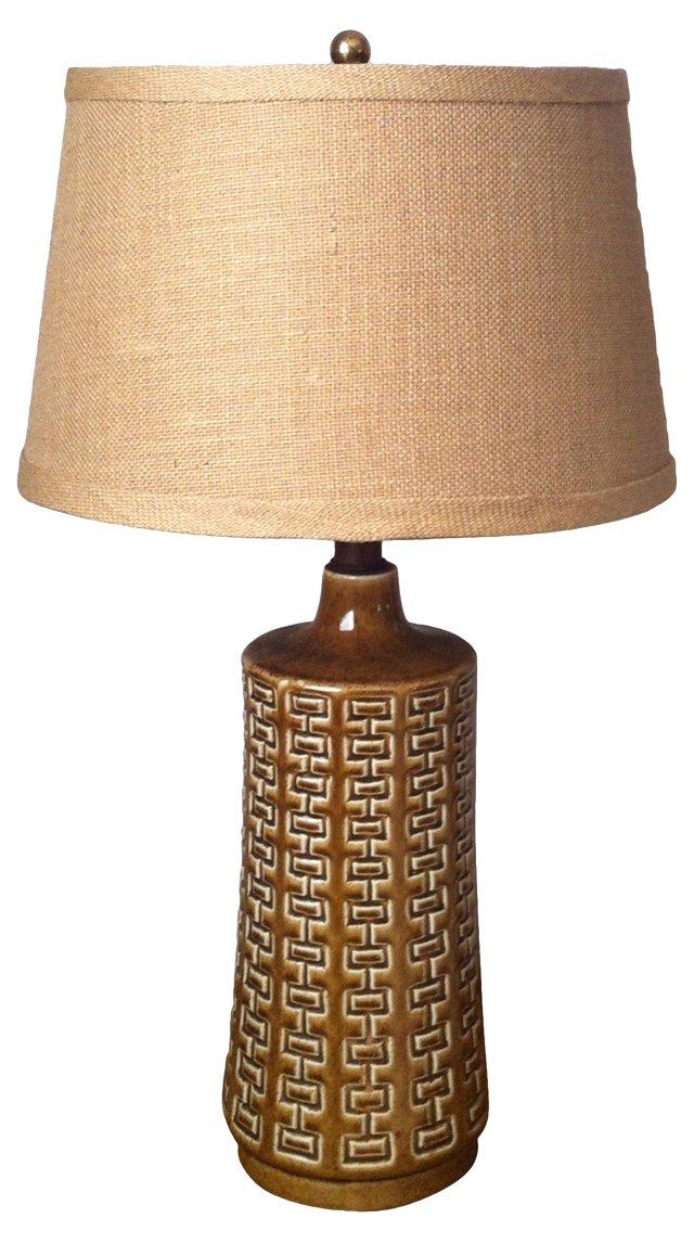 Midcentury Geometric Ceramic Lamp