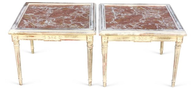 Neoclassical-Style Cocktail Tables, Pair