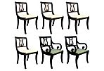 Lyre-Back Dining Chairs, Set of 6