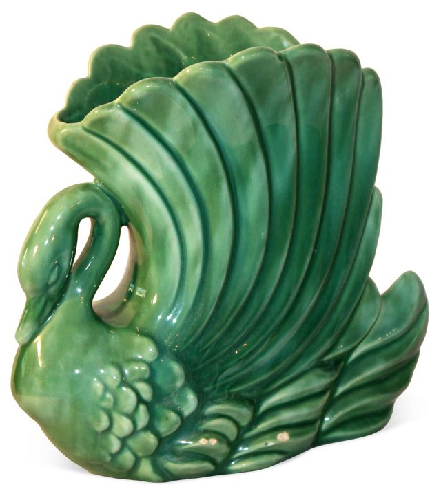 Royal Haeger Art Deco Swan Vase