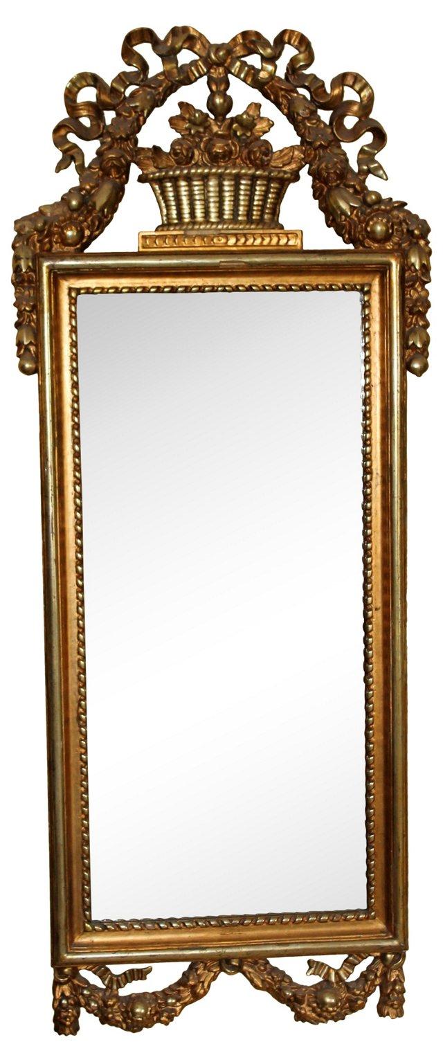 19th-C. French Louis XVI Giltwood Mirror