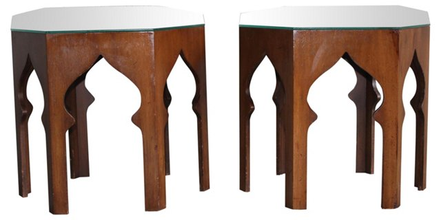 1960s Moroccan-Style Accent Tables, S/2