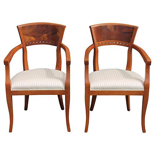 Italian Armchairs, Pair