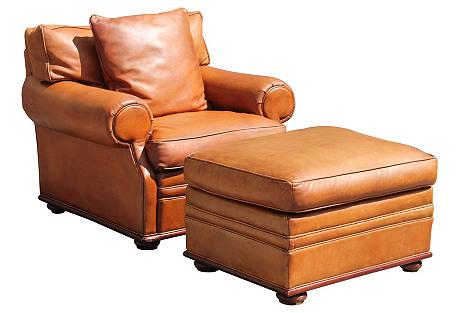 Ralph Lauren Henredon Chair & Ottoman