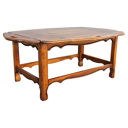 1970s Tray-Top Coffee Table