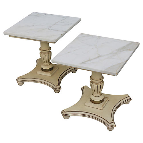 Italian Provincial Accent Tables, Pair