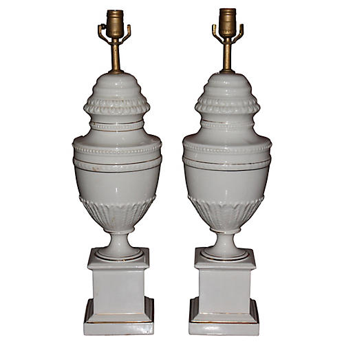 Detailed Classical Urn Shaped Lamps