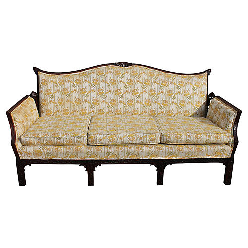 Chippendale-Style Carved Sofa