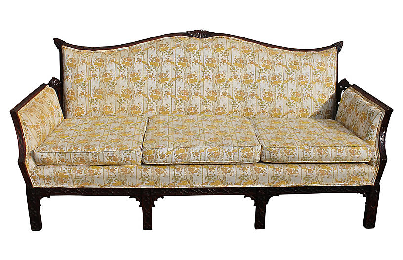 Chippendale Style Carved Sofa