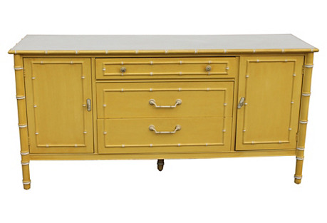 Midcentury Faux-Bamboo Sideboard