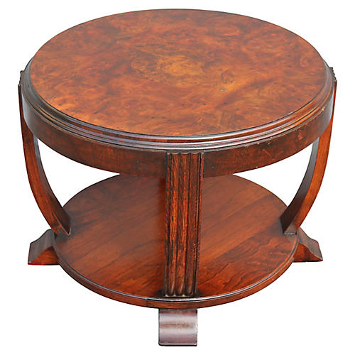 '30s French Art Deco 2-Tier Side Table