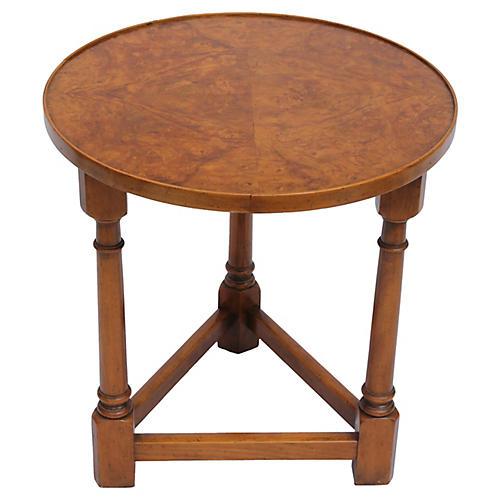 Midcentury Baker Burl-Wood Side Table