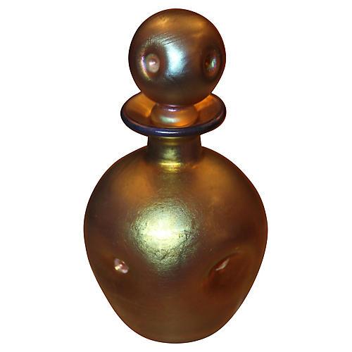 '20's Steuben Gold Aurene Perfume Bottle