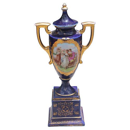 Antique Vienna Lidded Urn