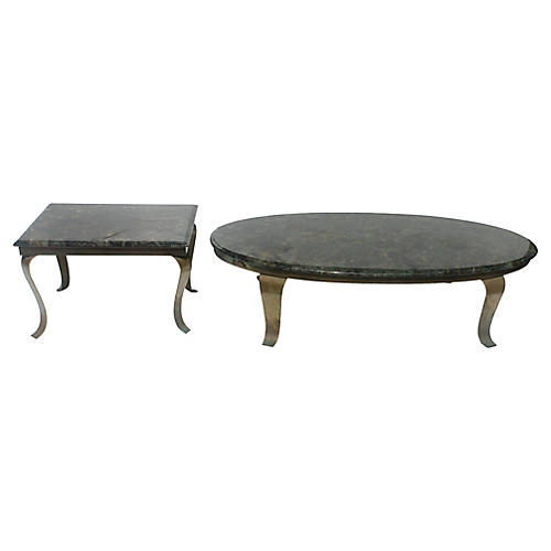 Coffee & Side Table Set, 2 Pcs