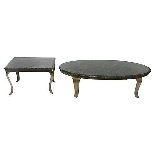 Coffee & Side Table Set, 2 Pcs