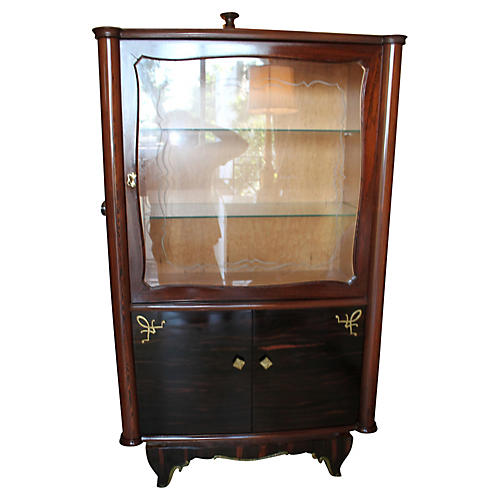 French Art Deco Macassar Bar Cabinet
