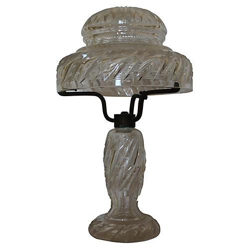 F. & C. Osler Cut-Glass Lamp, C.1880